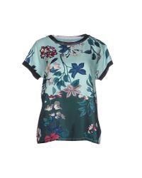 Moncler - Blue T-shirt - Lyst