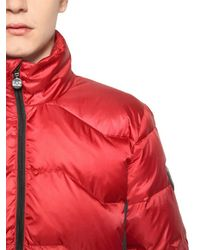 EA7 - Red Nylon Ripstop Down Jacket - Lyst