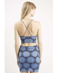 TOPSHOP - Blue Folly Crop Top By Motel - Lyst