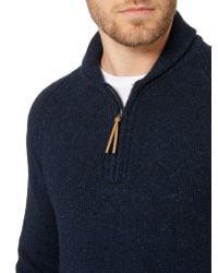 Howick - Blue Rambler Kangaroo Half-zip Jumper for Men - Lyst