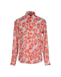 Armani Jeans - Pink Shirt for Men - Lyst