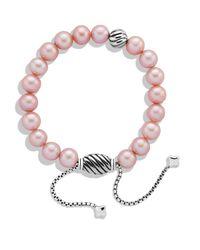 David Yurman - Spiritual Beads Bracelet With Pink Pearls - Lyst