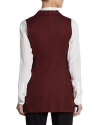 Jil Sander - Red Contour Cotton Vest - Lyst