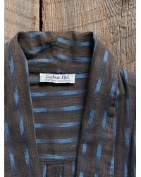 Free People - Blue Vintage Indigo Ikat Jacket - Lyst