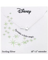 Disney | Metallic Magic Wand Pendant Necklace In Sterling Silver | Lyst