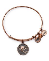 ALEX AND ANI - Pink Eye Of Horus Rose Gold Tone Wire Bangle - 100% Bloomingdale's Exclusive - Lyst