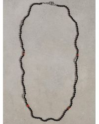 John Varvatos | Black Onyx and Turquoise Beaded Necklace for Men | Lyst