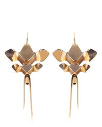 Moxham | Metallic Tilde Earrings | Lyst