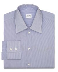 Armani - Blue Stripe Dress Shirt - Regular Fit for Men - Lyst