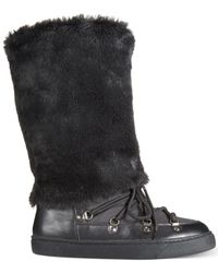 INC International Concepts | Black Soffy Faux Fur Cold Weather Boots, Only At Macy's | Lyst