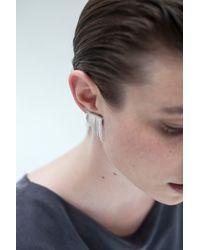 Saskia Diez | Metallic Triangle Fringe Earclips | Lyst