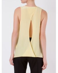 Giuliana Romanno | Yellow Back Cut Out Silk Blouse | Lyst