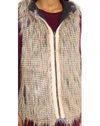 6 Shore Road By Pooja - Gray Hopi Reversible Faux Fur Vest - Lyst
