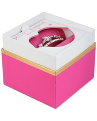 Betsey Johnson - Metallic Silver-tone Crystal And Stone Heart Bangle Bracelet Set - Lyst