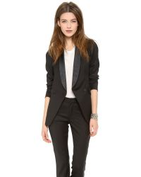 Band of Outsiders - Shawl Collar Double Breated Blazer - Black - Lyst