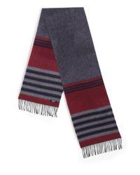 Saks Fifth Avenue - Gray Varigated Stripe Merino Wool & Cashmere Sweater for Men - Lyst