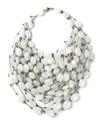 Jean-Francois Mimilla - White Multi Strand Necklace - Lyst