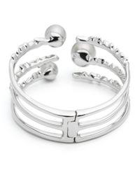 Alexis Bittar - Metallic Floating Pearl Stack Hinge Cuff Bracelet - Lyst