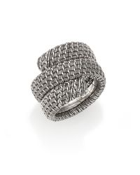 John Hardy | Metallic Classic Chain Sterling Silver Double Coil Ring | Lyst