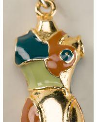 Jean Paul Gaultier - Metallic Mini Bust Pendant Necklace - Lyst