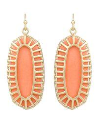 Kendra Scott - Orange Dayla Small Drop Earrings - Lyst