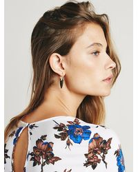 Free People - Metallic Womens Tribe Metals Hoops - Lyst