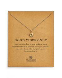 Dogeared | Metallic 'good Vibes Only' Sunburst Pendant Necklace | Lyst