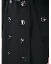 Burberry - Black Duncannon Buttoned Coat - Lyst