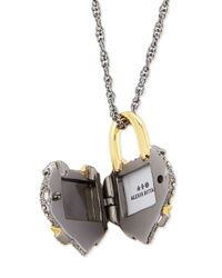 Alexis Bittar | Metallic Crystal Padlock Locket Necklace | Lyst