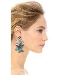 By Malene Birger - Blue Braicca Clip On Earrings - Lyst