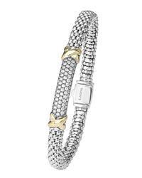 Lagos - Yellow Caviar Diamond Lux Bracelet - Lyst