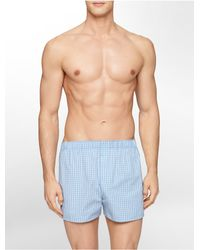 Calvin Klein | Blue Underwear 3 Pack Woven Classic Fit Boxers for Men | Lyst