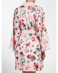 John Lewis - Multicolor Wild Floral Kimono Robe - Lyst