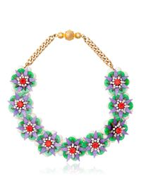 Shourouk | Green Small Narcis Necklace | Lyst