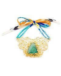 Tilayo - Metallic Amulet Necklace - Lyst