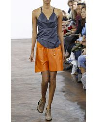 J.W.Anderson - Navy and Orange Spaghetti Strap Layered Dress - Lyst