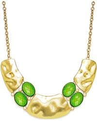 Style & Co. | Style&Co. Gold-Tone Green Pebble Cleo Necklace | Lyst