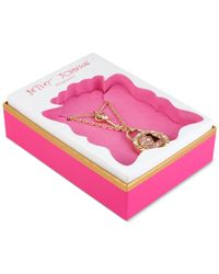 Betsey Johnson | Metallic Gold-tone Crystal Lock And Key Layered Pendant Necklace | Lyst