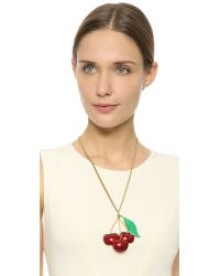 Erickson Beamon - Red Cherry Pie Necklace - Lyst