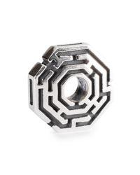 Trollbeads | Metallic Sterling Silver Labrinth Charm | Lyst