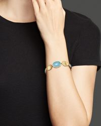 Marco Bicego | Metallic 18k Yellow Gold Lunaria Bracelet With Aquamarine | Lyst