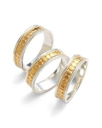 Anna Beck - Metallic 'gili' Stackable Band Rings - Lyst