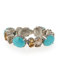 Stephen Dweck - Blue Turquoise & Quartz Link Bracelet - Lyst