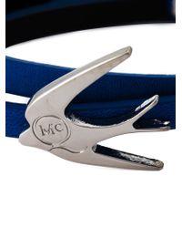 McQ - Blue Swallow Triple Wrap Bracelet - Lyst