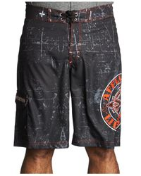 Affliction | Black Royal Chromatic Board Shorts for Men | Lyst