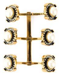 Alexander McQueen | Metallic Military Bracelet | Lyst