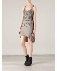 BLK OPM - Gray Whatever Tank Dress - Lyst