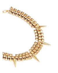 Ela Stone | Metallic Marla Pyramid Chain Spike Necklace | Lyst
