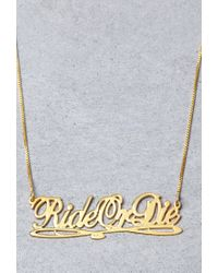 Forever 21 - Metallic Mala By Patty Rodriguez Ride Or Die Necklace - Lyst