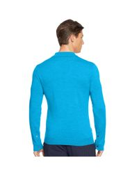 Ralph Lauren | Blue Tailored-fit Stretch-mesh Polo for Men | Lyst